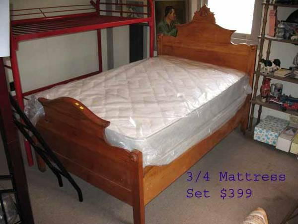 Boxspring Review 3/4 Size Mattress For Antique Beds, Payments Ok - For Sale