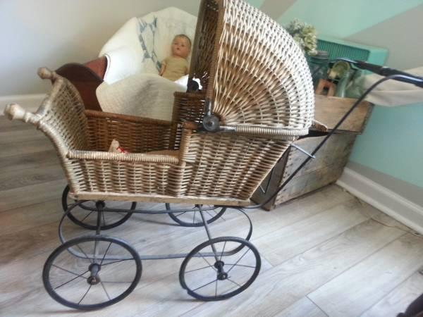 3 In 1 Travel Prams Antique Baby Doll Pram Stroller Wicker For Sale In