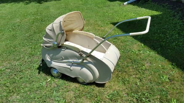 Carriage Type Strollers Antique Hecker 1950 39;s Baby Stroller Carriage Buggy For