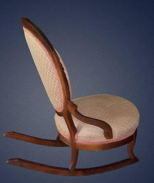 Antique victorian style slipper rocking chair for sale in