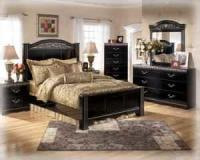 KING size ashley bedroom suite with 32 inch flatscreen LG ...