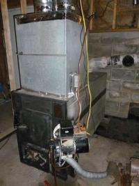 Long wood Multi Fuel wood oil furnace !!PRICE LOWERED ...