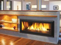 "New Modern Linear 42"" Gas Fireplace, Regency HZ40E Wide ..."