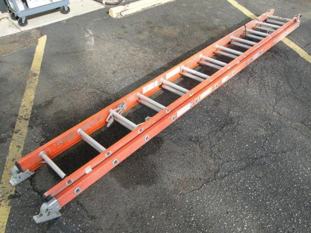 Werner D6224 2 24ft Heavy Duty Fiberglass Extension Ladder