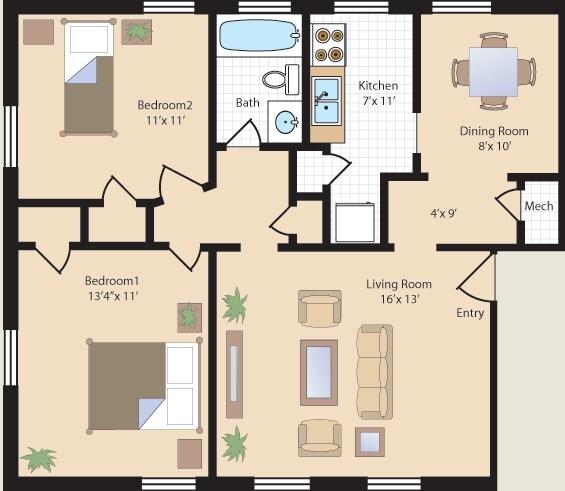 Queens Manor Gardens Rentals   Mount Rainier, MD Apartments   3 Bedroom  Apartments Queens
