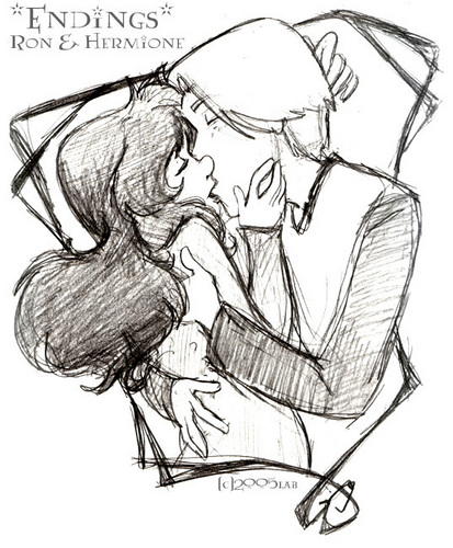 behind the scenes harry and hermione kiss