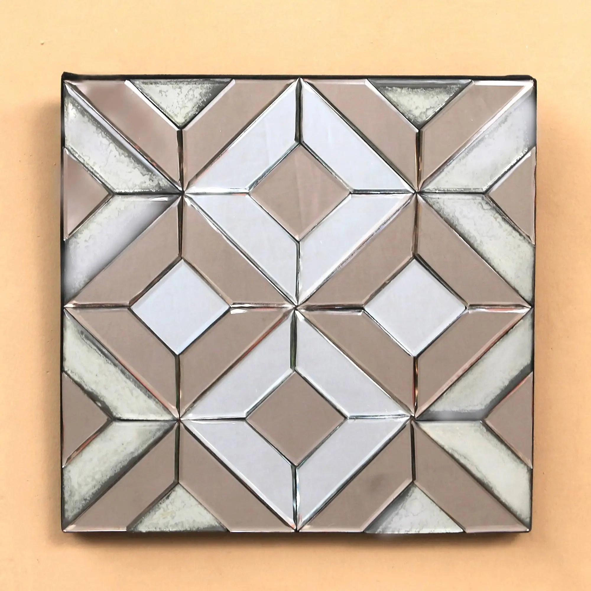 Decorative Mirror Geometric Glass Decorative Mirror From Java Temple Mystery