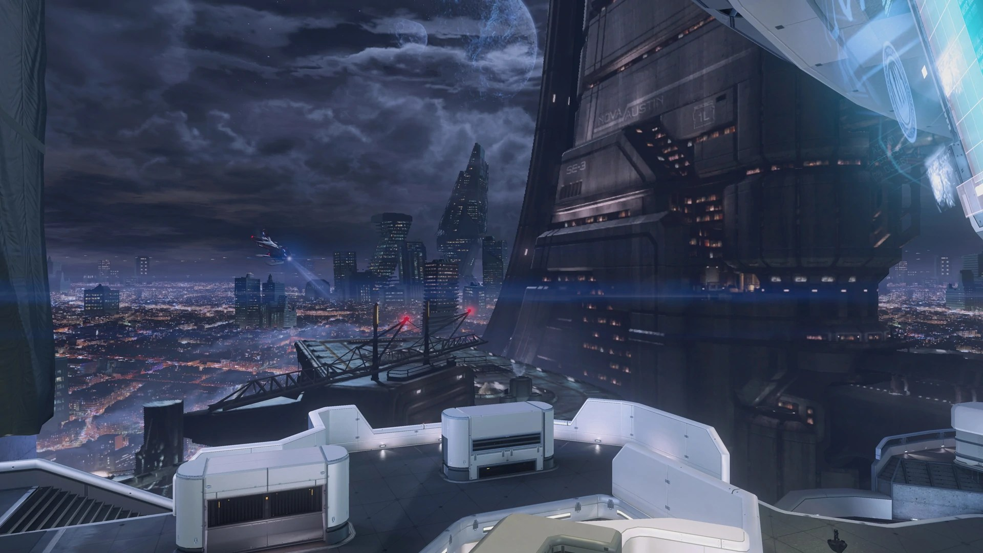 Hong Kong Iphone X Wallpaper I Love The Skybox Of The New Halo 4 Map Skyline Cyberpunk