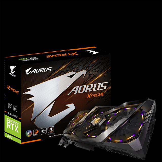 GIGABYTE AORUS GeForce RTX 2080 XTREME 8G Graphics Card, 3 x Stacked