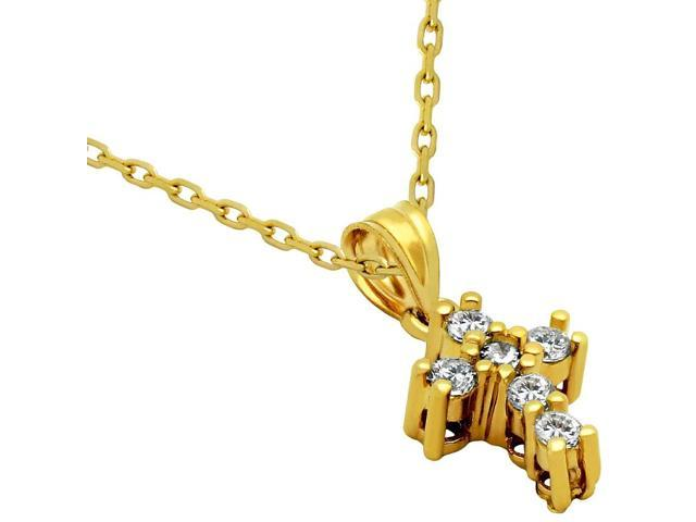 925 Sterling Silver Nickel Free Gold Plated Small Cubic