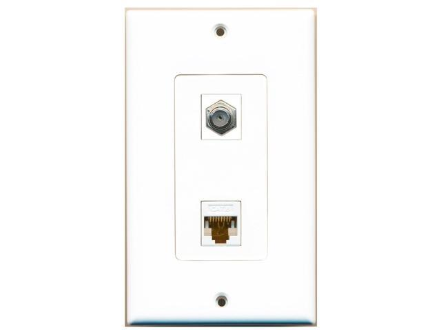 cable and ethernet wall plate wiring