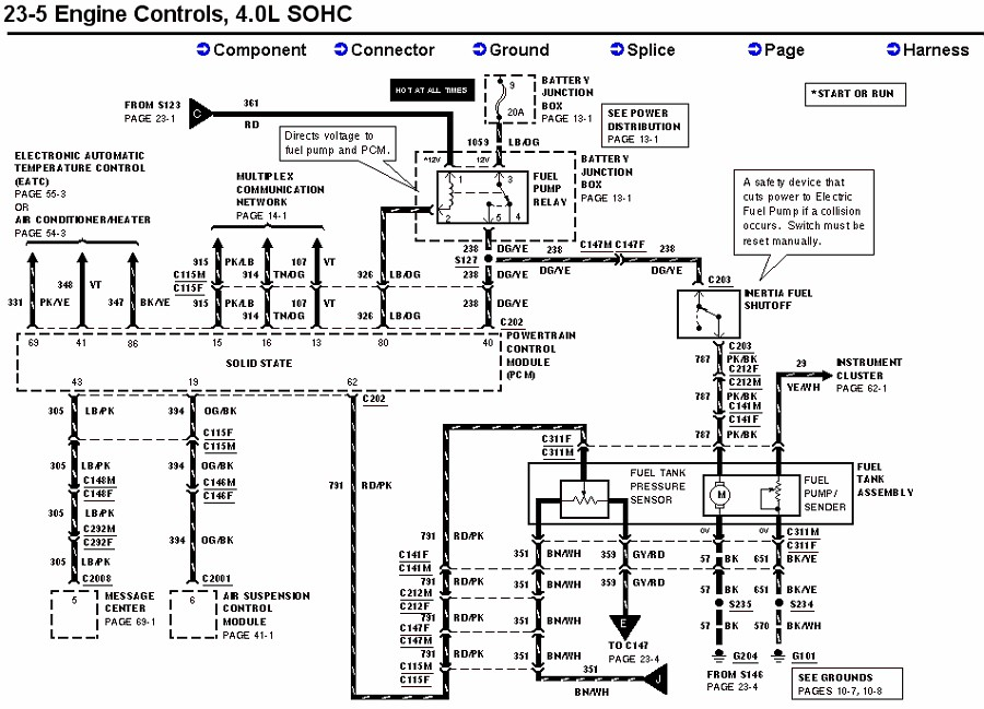 2002 Ford Explorer Sport Trac Fuel Pump Wiring Diagram