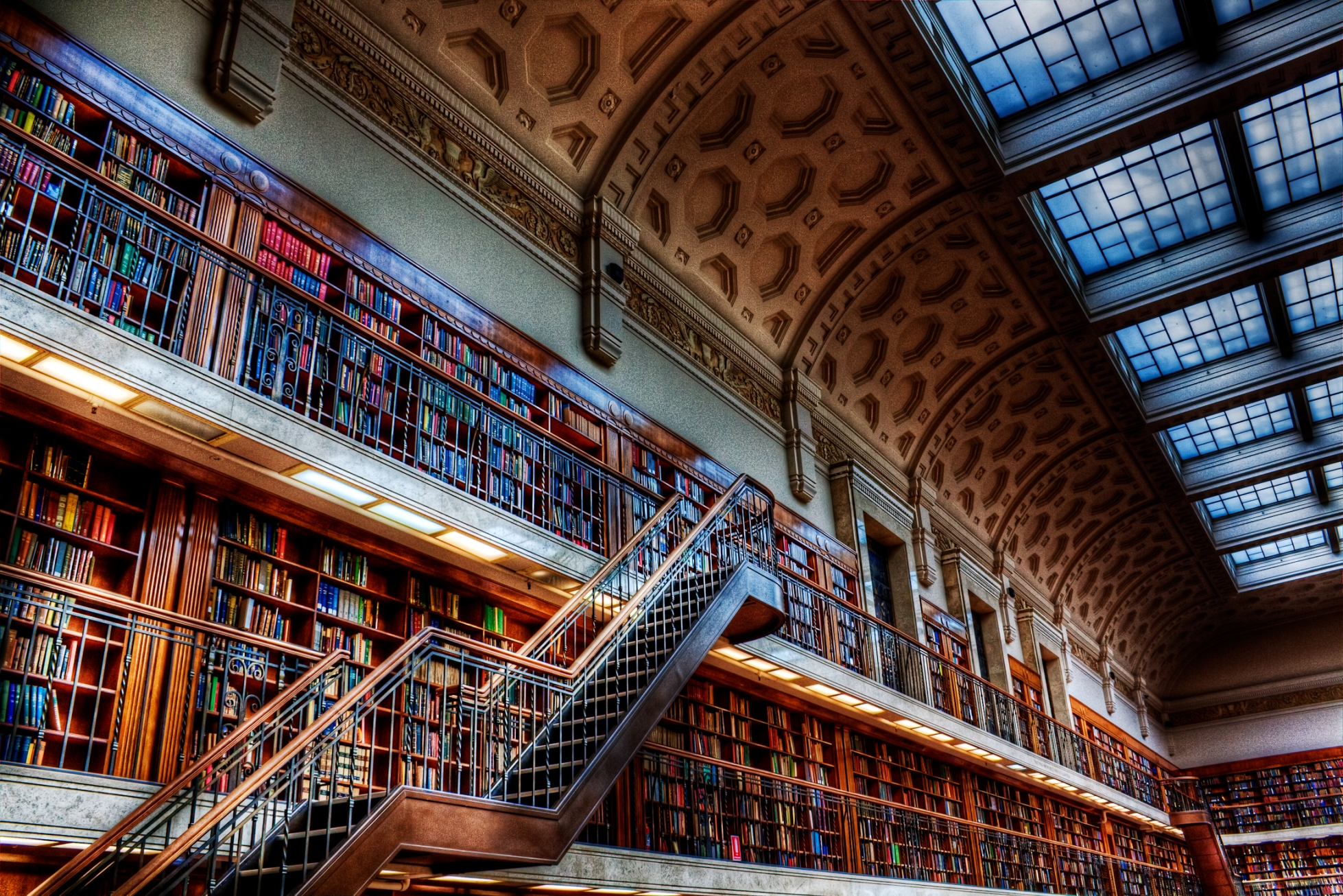 Bookshelf Iphone Wallpaper Hdr Full Hd Wallpaper And Background Image 1958x1306