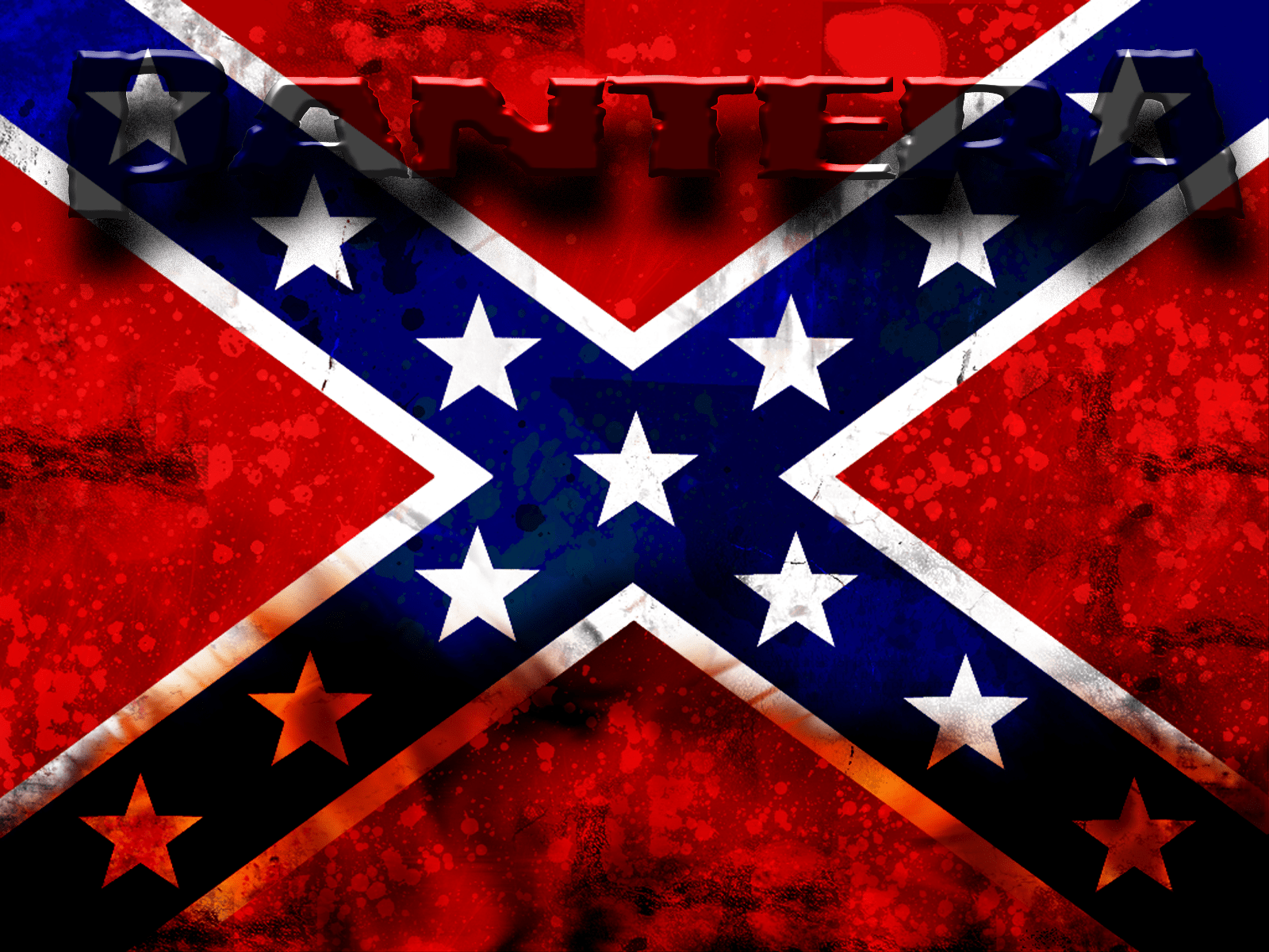Confederate Flag Wallpaper Hd Pantera Wallpaper And Background Image 1600x1200 Id 179980