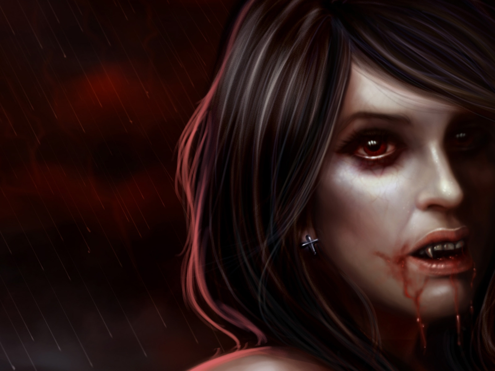 Gothic Girl Wallpaper Fantasy Vampire Wallpaper And Background Image 1600x1200 Id 219490