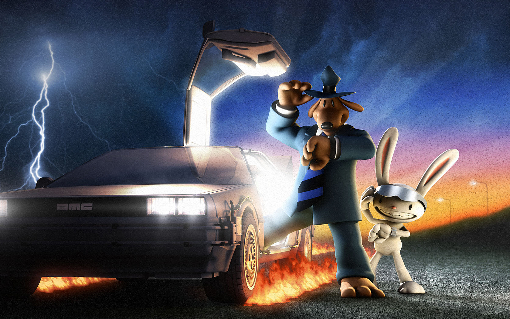 Back To The Future Iphone X Wallpaper Sam Amp Max Wallpaper And Background Image 1680x1050 Id
