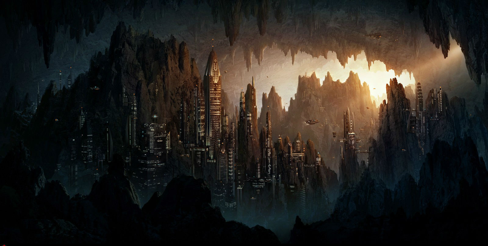 Futuristic Iphone X Wallpaper Caverna City Wallpaper And Background Image 1600x808