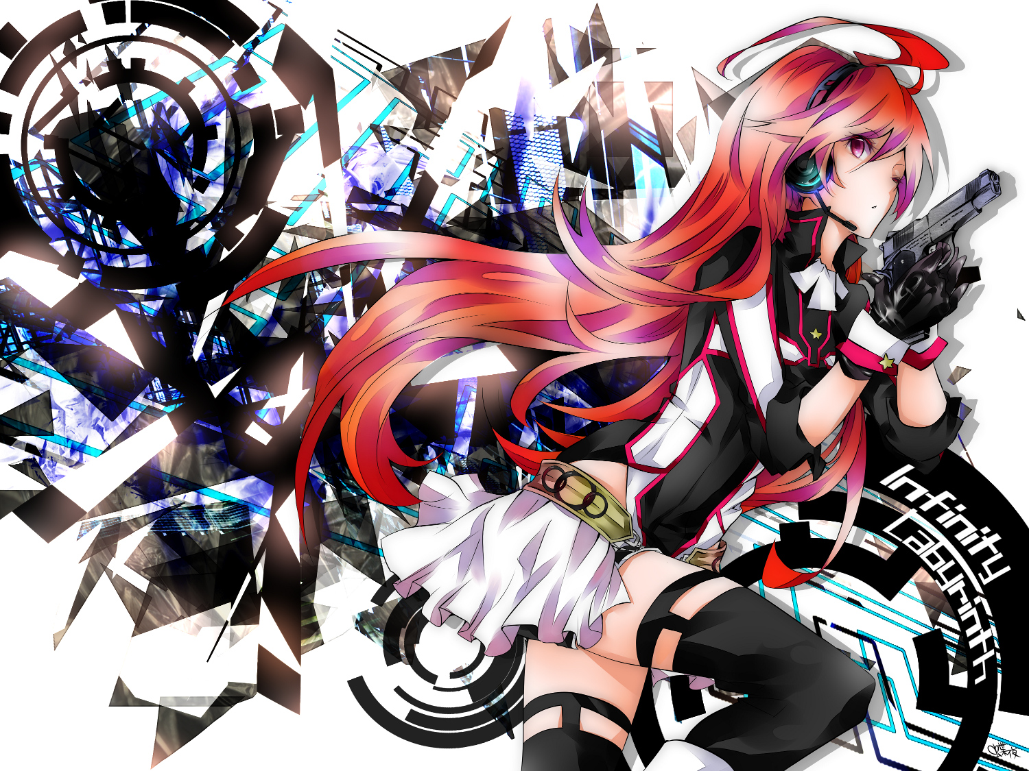 Girl Headset Wallpaper Vocaloid Wallpaper And Background Image 1500x1125 Id