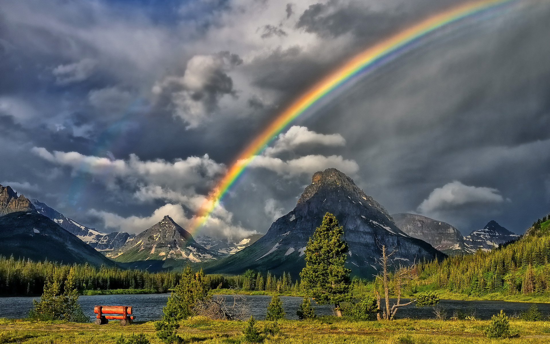 Original Iphone Wallpaper Earth Rainbow Full Hd Wallpaper And Background 1920x1200 Id