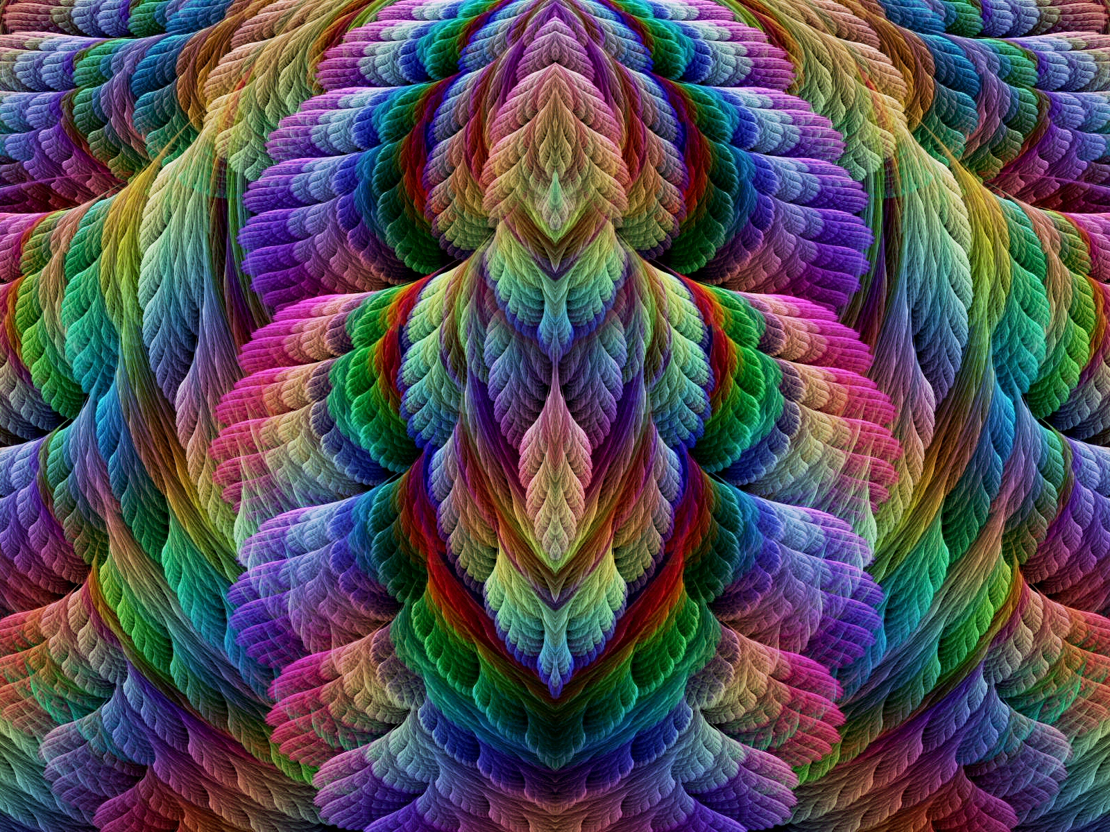 3d Rainbow Psychedeli Wallpaper Feathered Dreams Wallpaper And Background Image