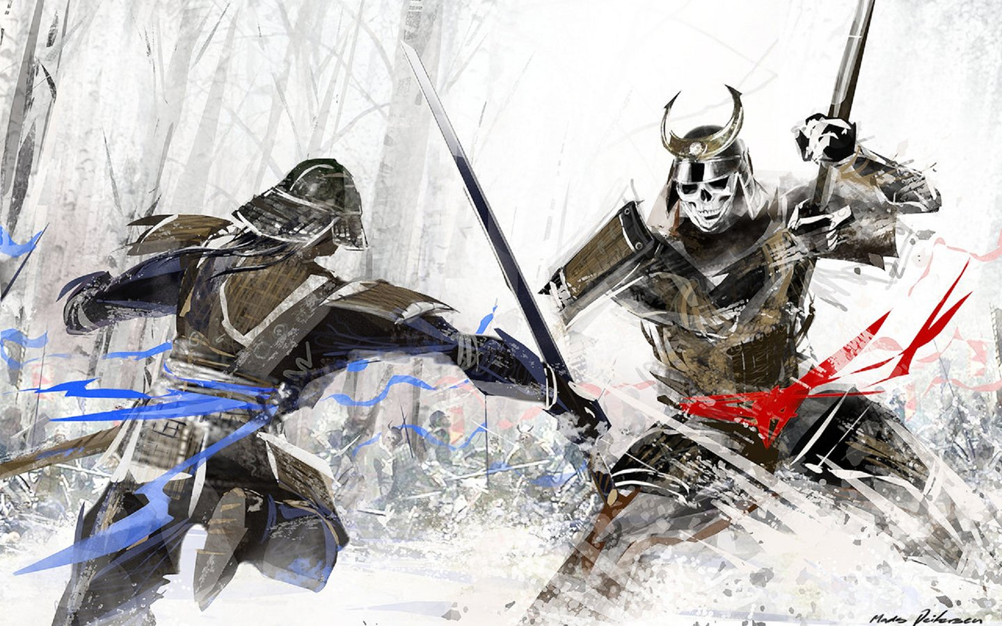 Fight Like A Girl Computer Wallpaper Samurai Wallpaper And Background Image 1440x900 Id