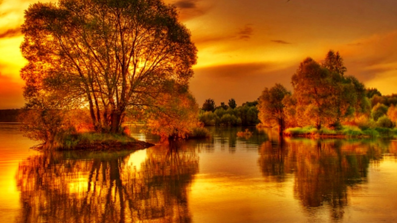 4k Hdr Wallpaper Iphone X On Golden Pond Wallpaper And Background Image 1366x768