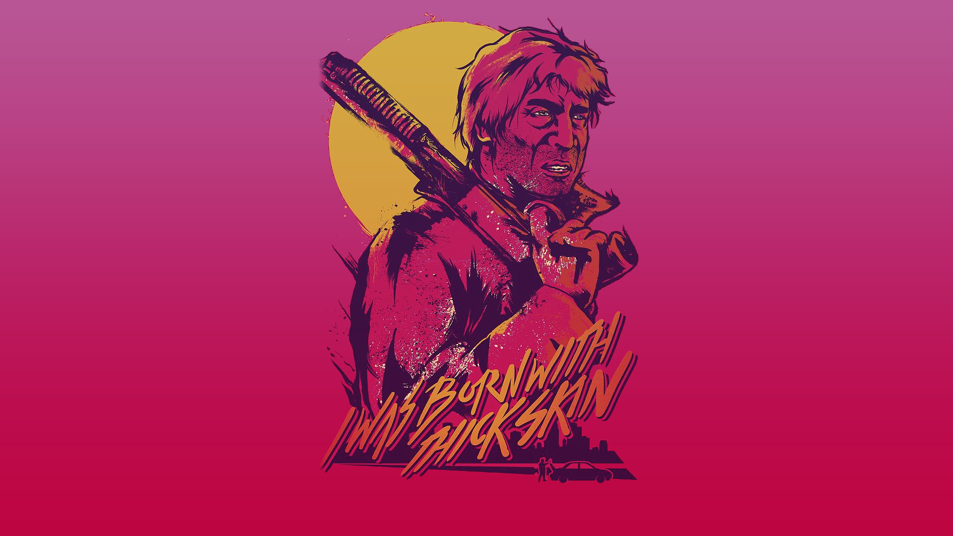 1920 Car Synthwave Wallpaper Hotline Miami 2 Wrong Number Hd Wallpaper Background