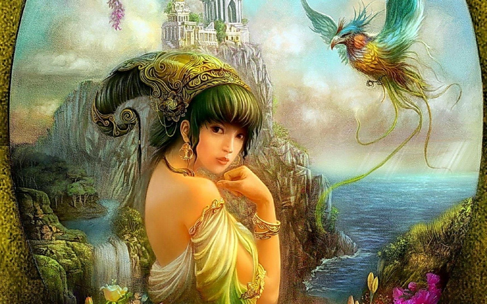 Beautiful Chinese Girl Paintings Widescreen Wallpaper Princess Of The Forgotten City Wallpaper And Background