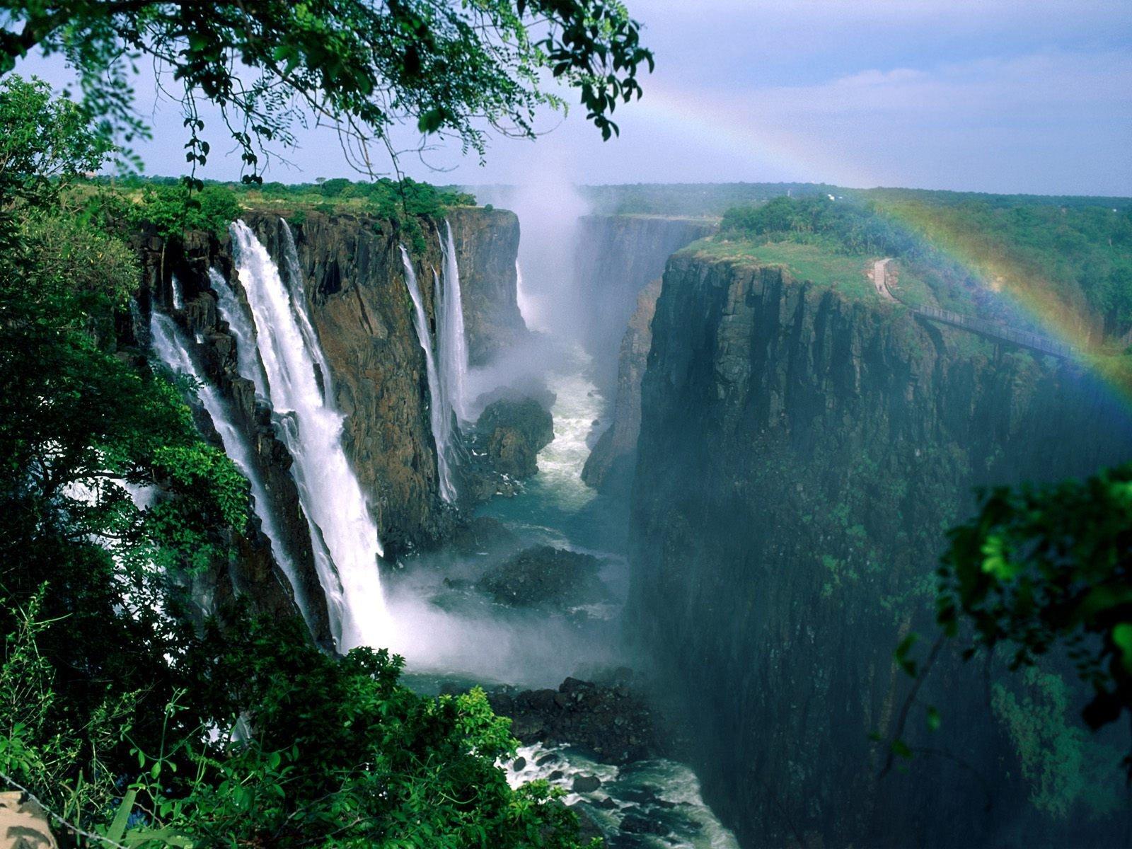 Angel Falls Wallpapers Desktop Victoria Falls Rainbow Fond D 233 Cran And Arri 232 Re Plan