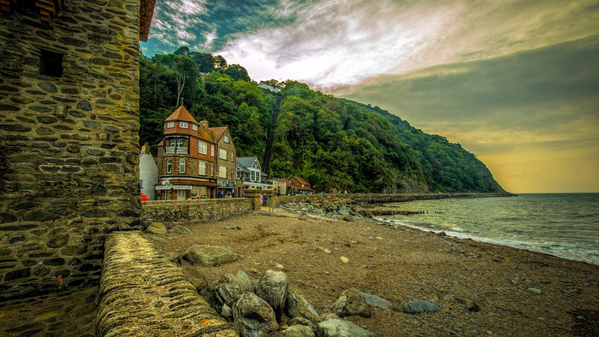 Uncharted Iphone Wallpaper Houses On The Coast Of England Hd Wallpaper Background