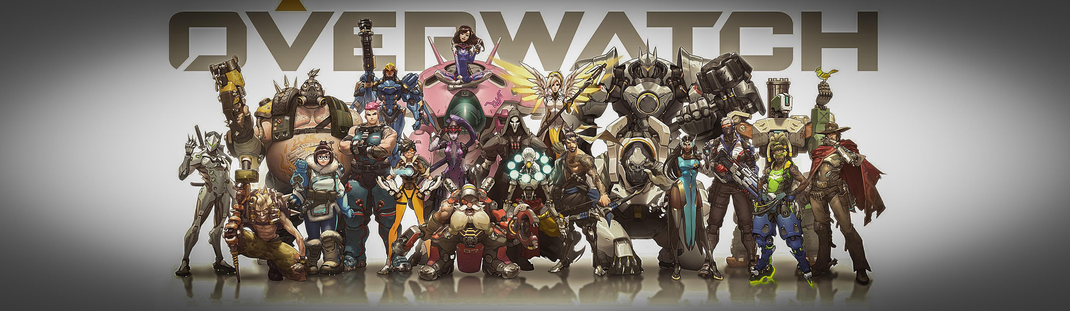 L Double Monitor Girl Wallpapers Overwatch Fond D 233 Cran And Arri 232 Re Plan 3520x1024 Id