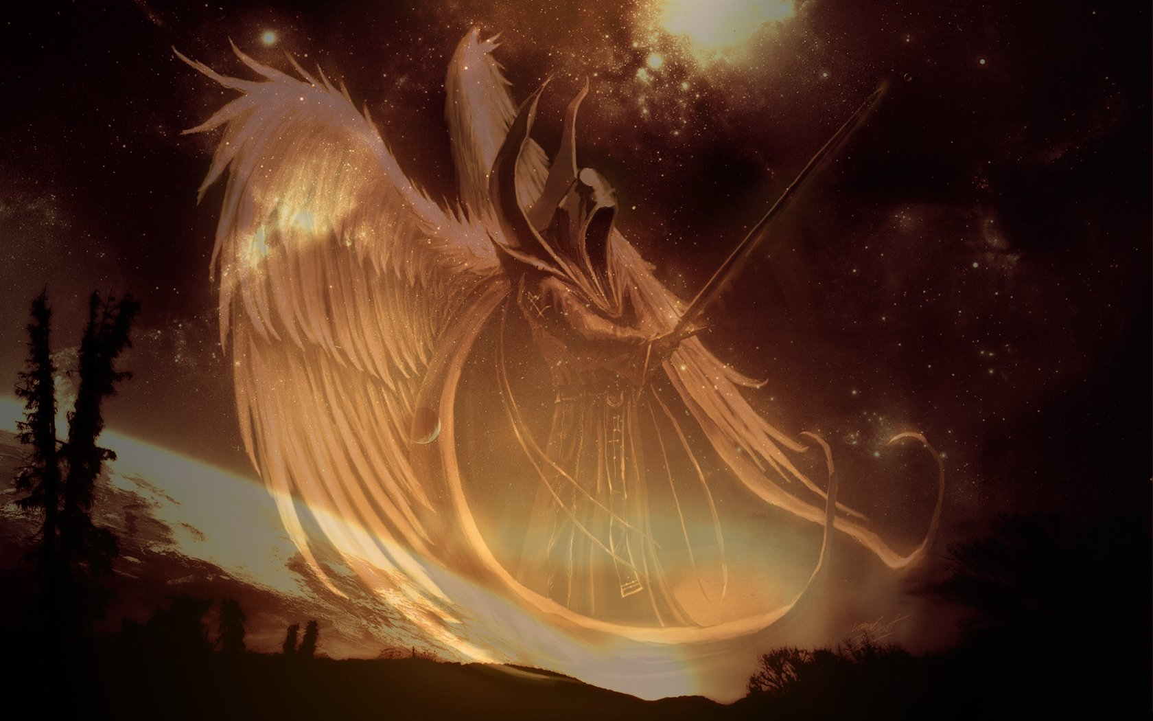 How To Use Gif As Wallpaper Iphone X Angel Warrior Wallpaper And Background Image 1680x1050