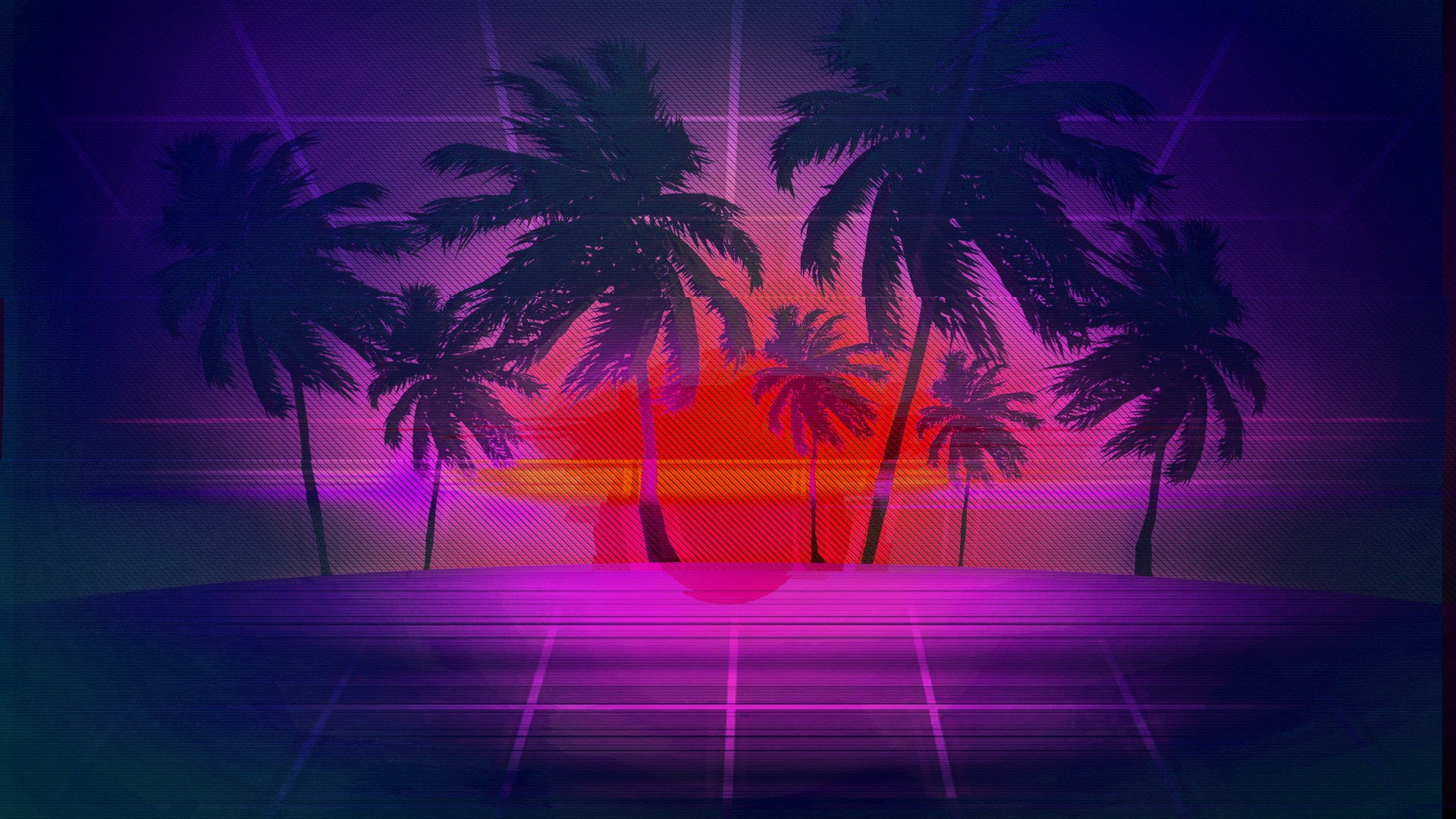 Miami Iphone X Wallpaper Vaporwave Hd Wallpaper Background Image 1920x1080 Id