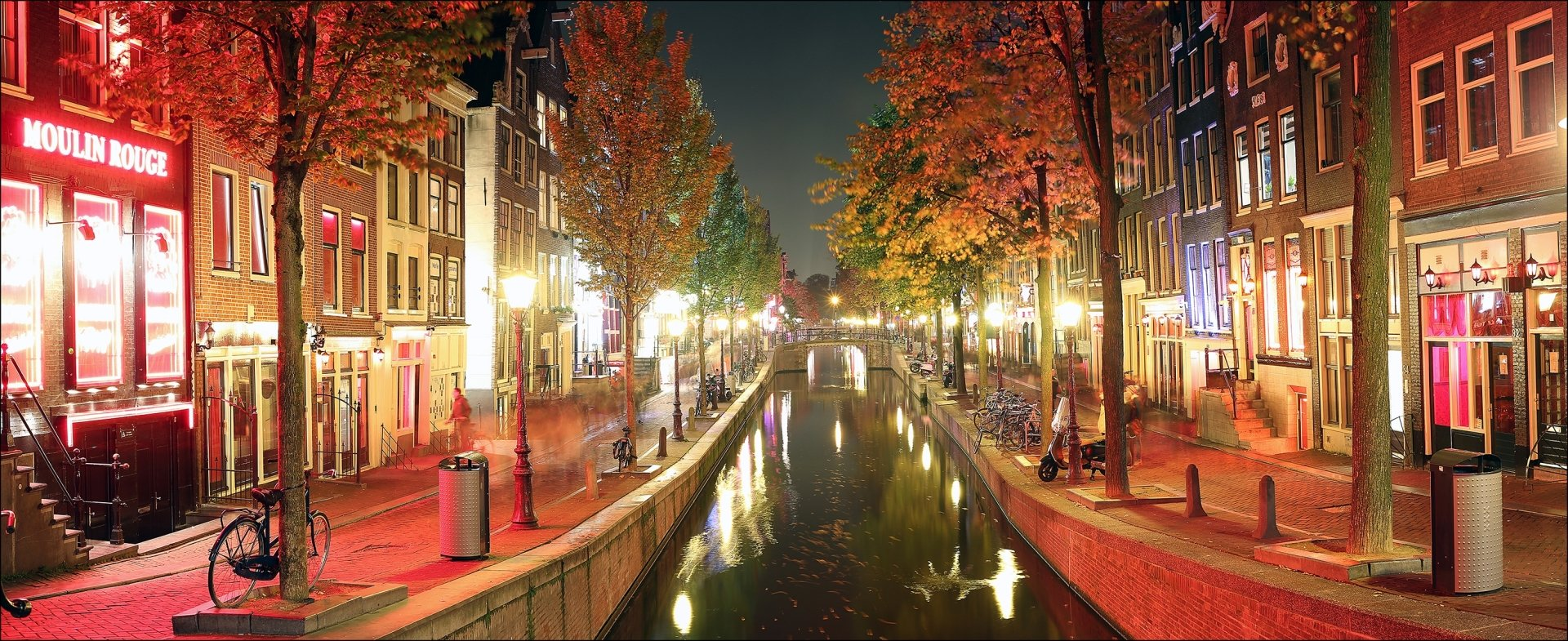 Windows 10 Wallpapers Hd Fall Autumn Night In Amsterdam Fondo De Pantalla Hd Fondo De