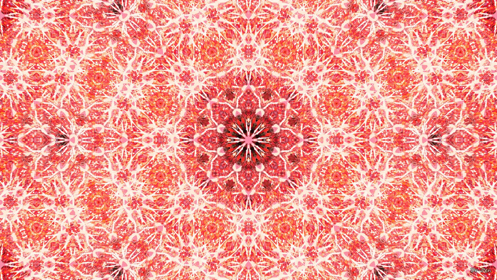 Wallpapers Abstractos Hd Red Flower Mandala Hd Wallpaper Background Image