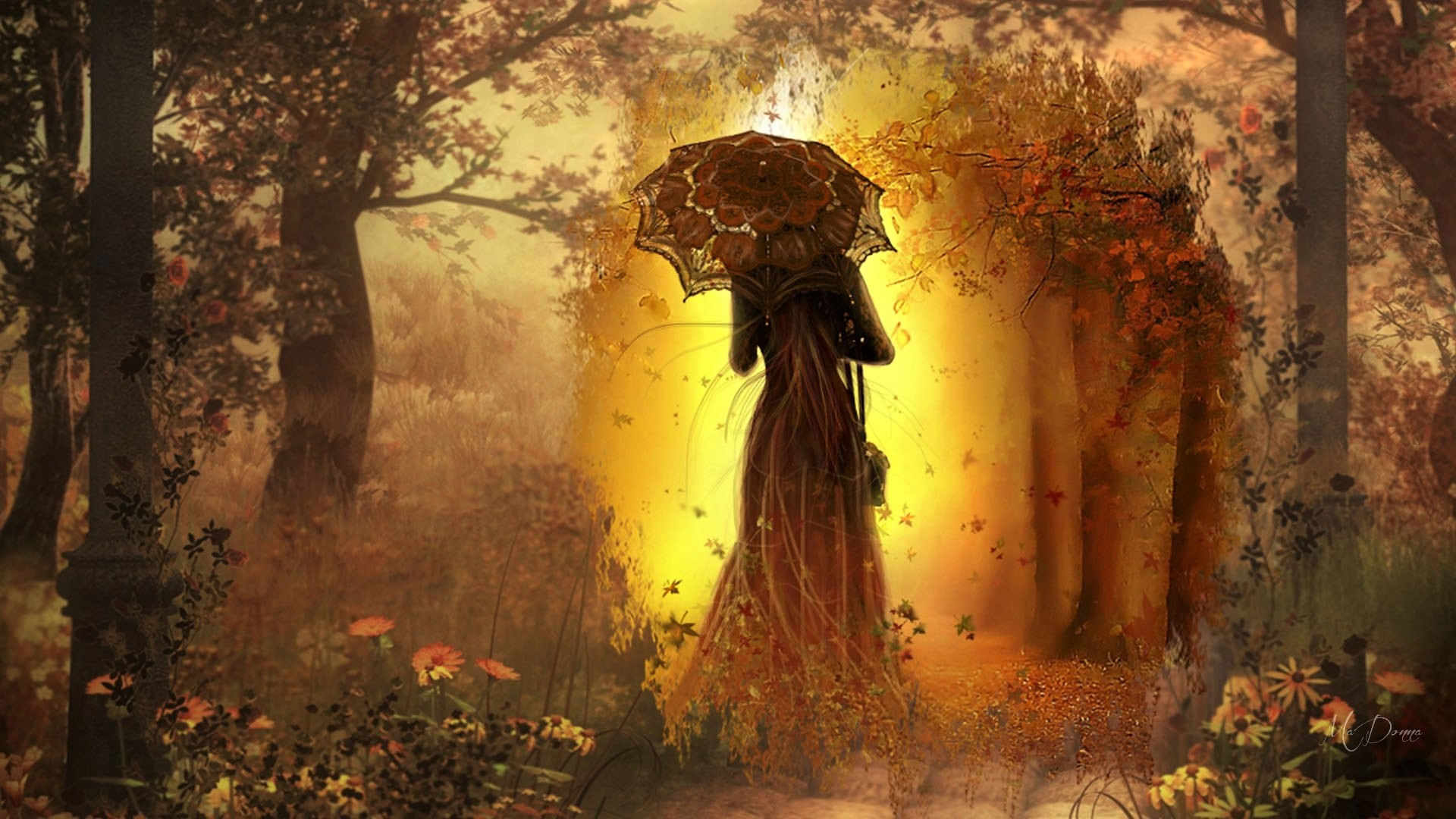 Autumn Fall Wallpaper 1600x900 Gothic Autumn Full Hd Wallpaper And Background Image