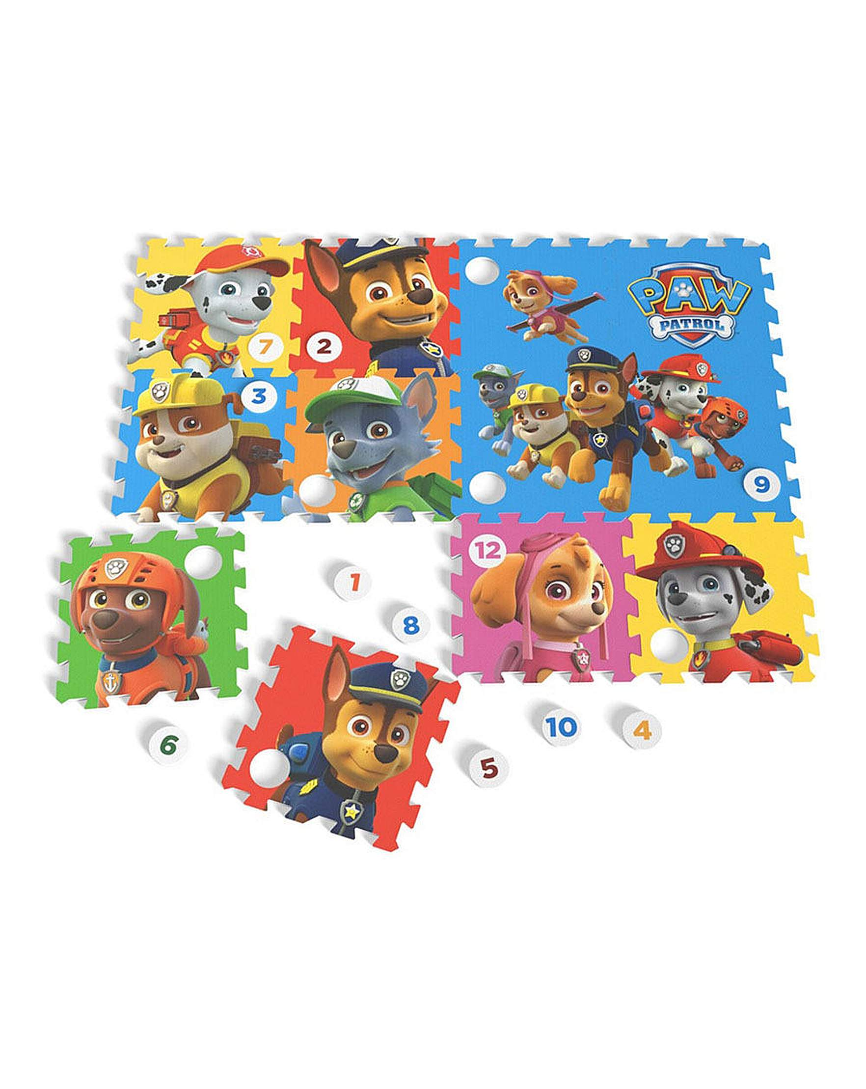 Tappeto Puzzle Baby Smile Paw Patrol Floor Mat Puzzle 12 Pcs