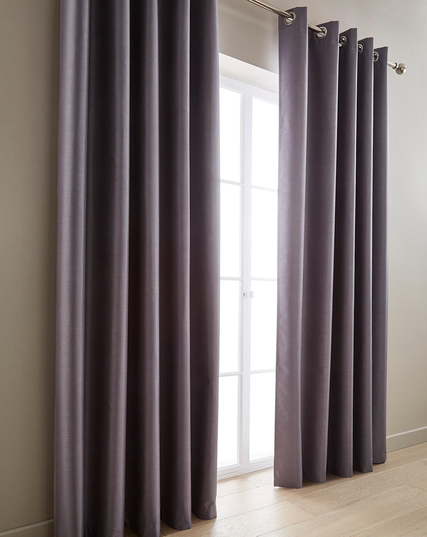 Faux Silk Curtains Ferndale Faux Silk Blackout Curtains