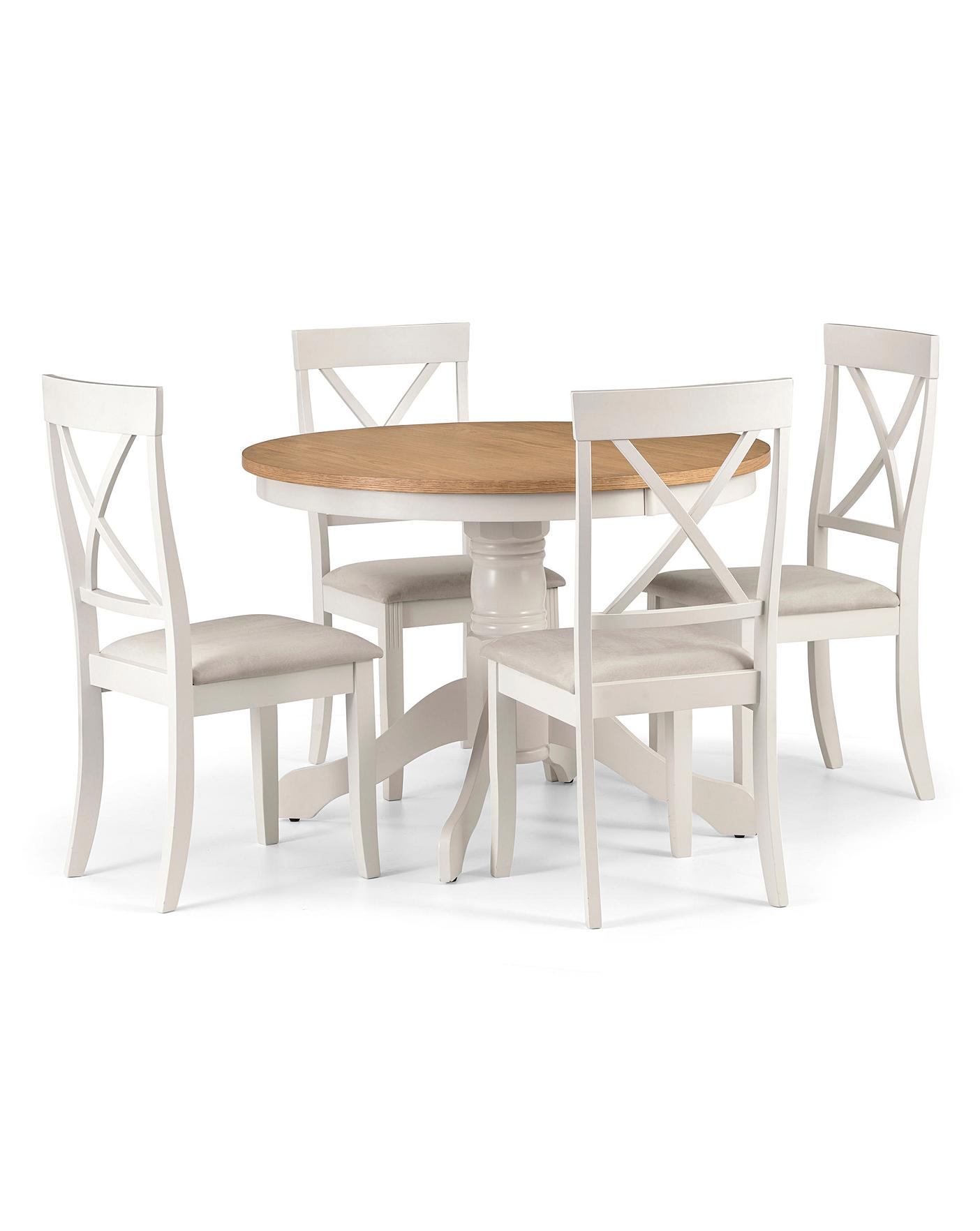 Paignton Pedestal Table With 4 Chairs J D Williams