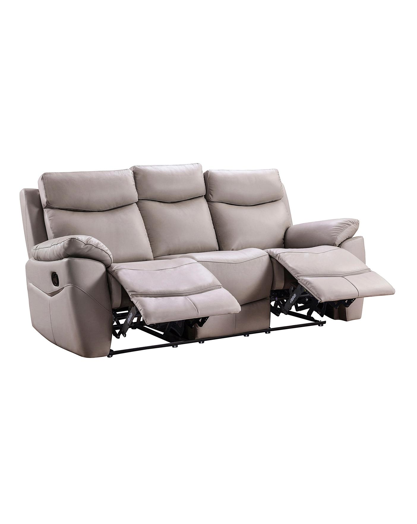 Marley Leather 3 Seater Recliner Sofa J D Williams