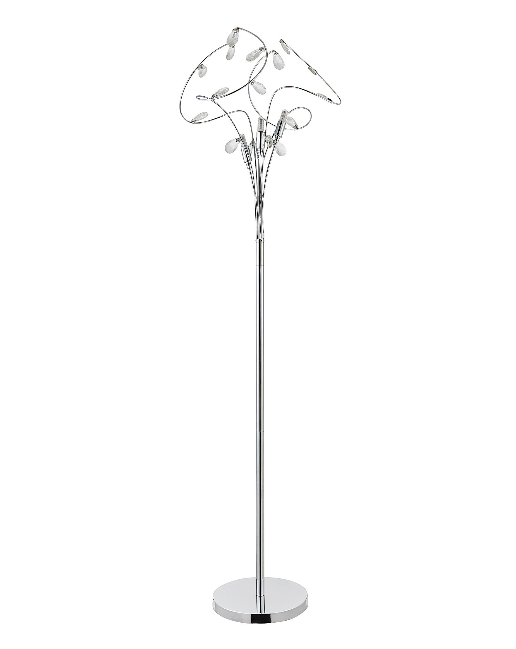 Lampen Bremen Bremen Silver 4 Light Floor Lamp