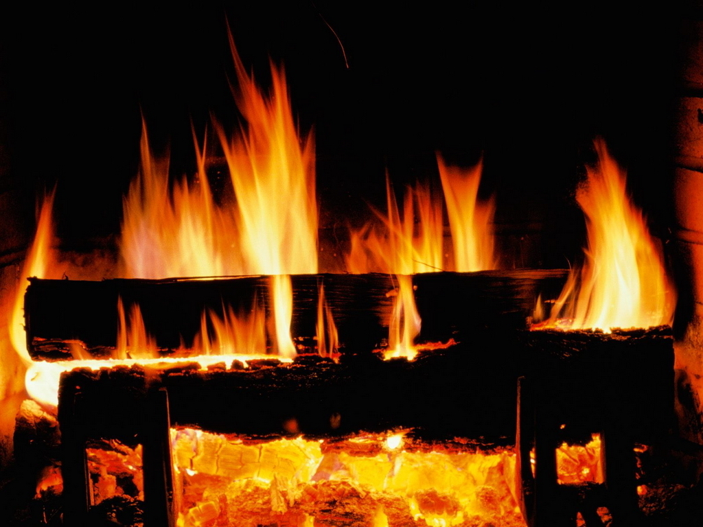 Christmas Images Crackling Fire Hd Wallpaper And