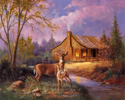Falling Leaves Wallpaper Screensavers By The Cabin Deer Fan Art 8138993 Fanpop