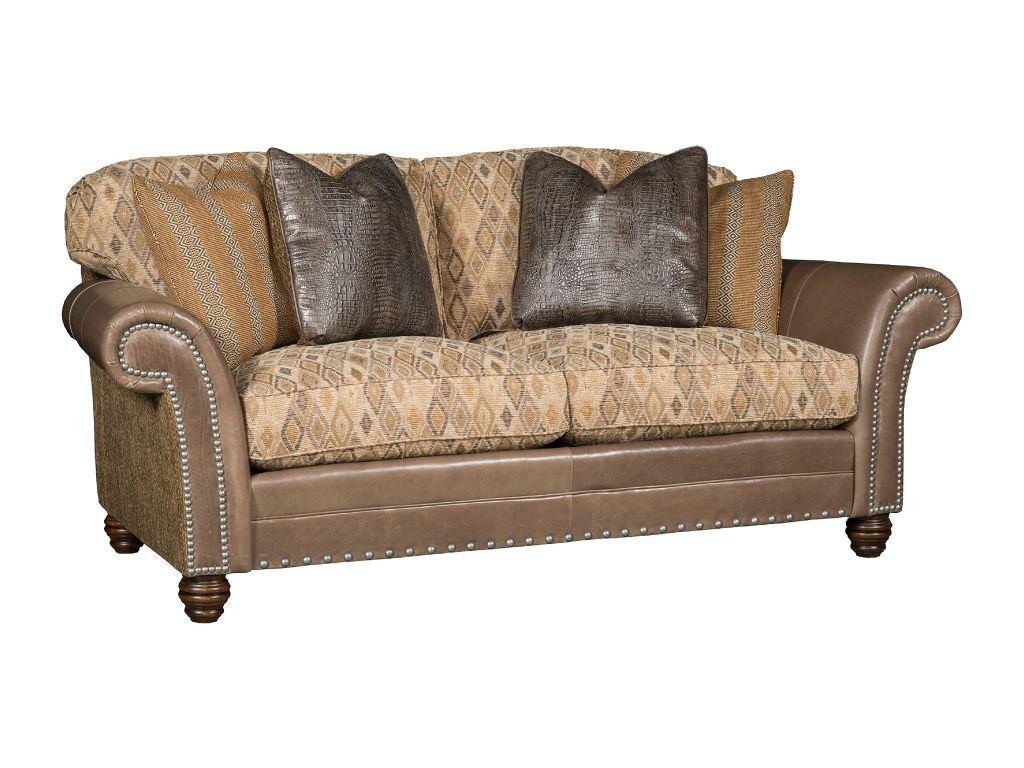 King Hickory Living Room Katherine Leather Fabric Sofa