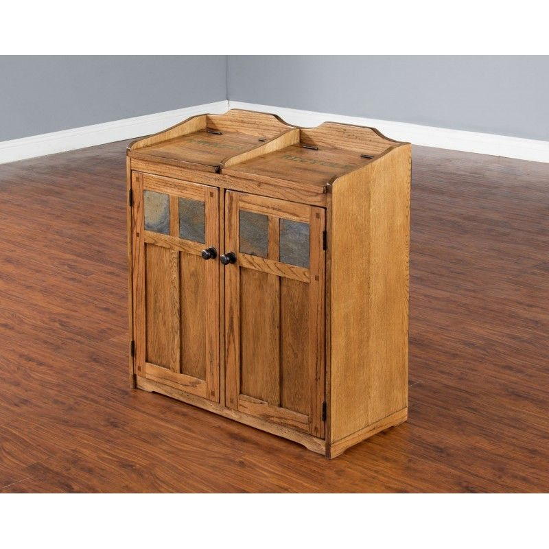 Recycle Furniture Sunny Designs Accessories Sedona Trash And Recycle Box 2110ro 2