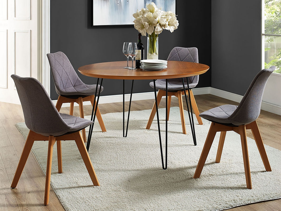 Modern Dining Room Furniture 46 Mid Century Modern Round Hairpin Leg Kitchen Dining Table