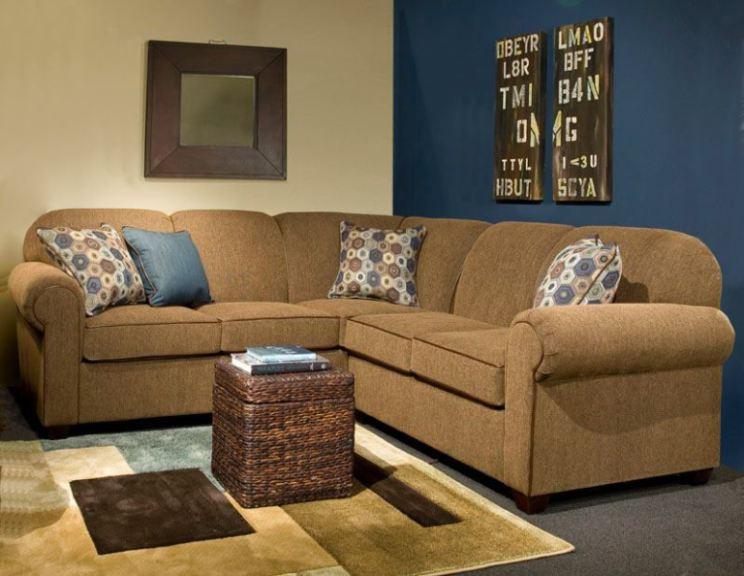 Cool Sofa Pillows Marshfield Furniture Living Room 2-piece Sectional Mf2281-sect1 - Penny Mustard - Milwaukee