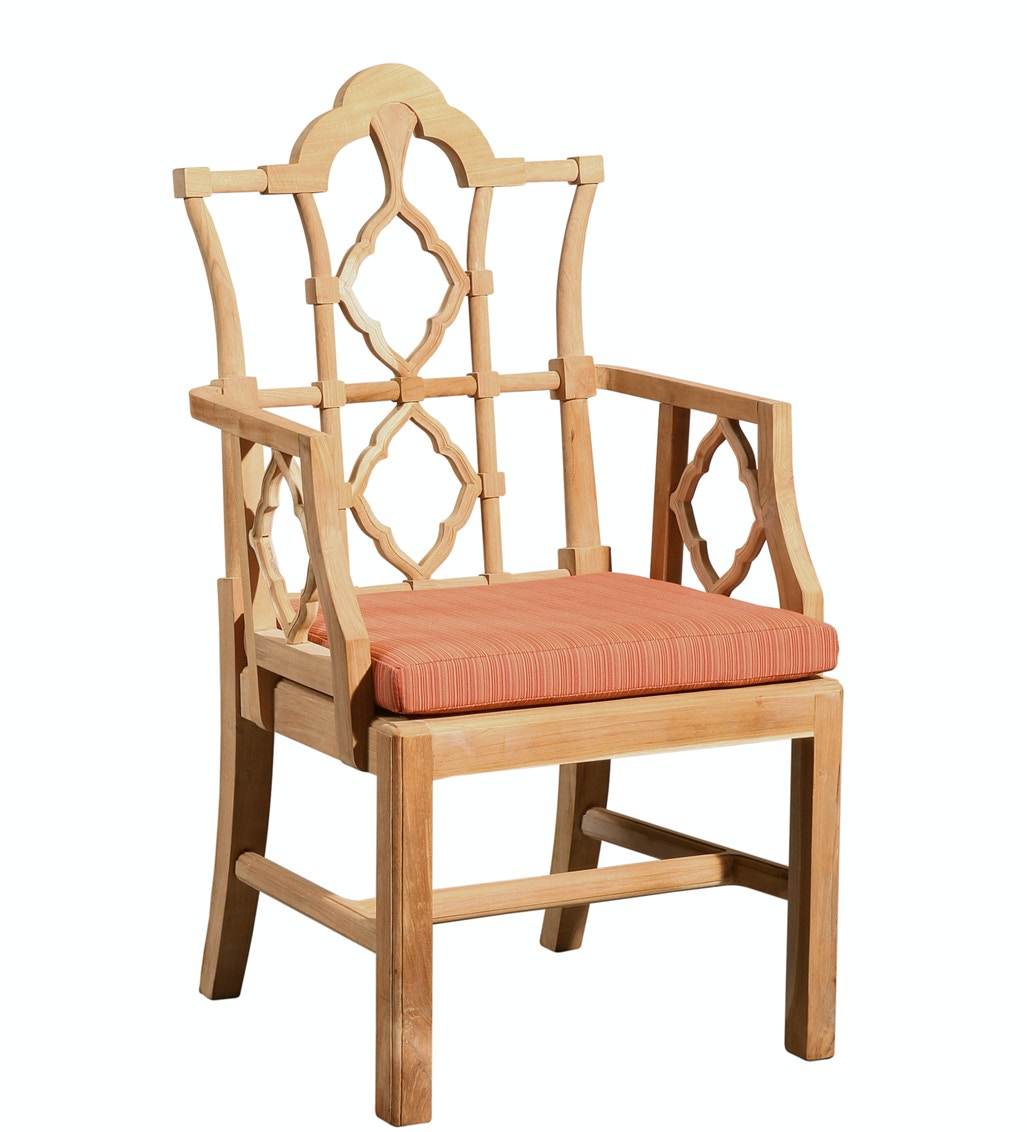 Furniture Classics Outdoor Patio Arm Chair Unfinished Teak 1965unf Whitley Furniture Zebulon