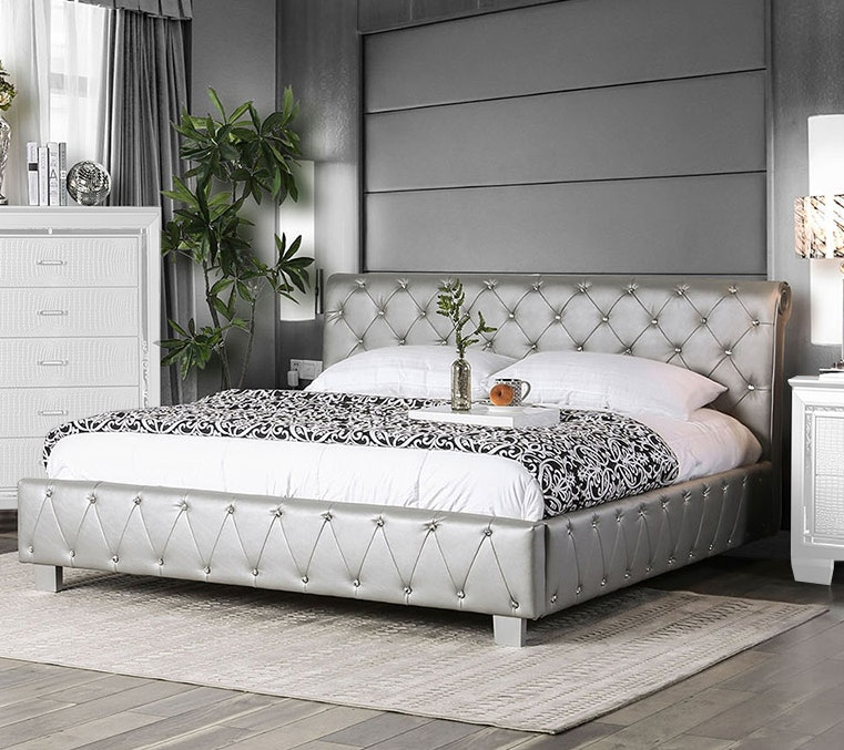 Furniture Of America Bedroom California King Bed Cm7056sv Ck Bed Furniture Market Austin Tx