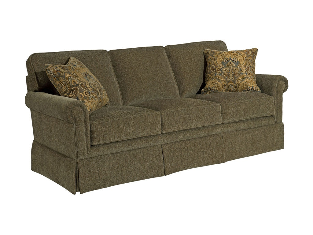 Beige Corduroy Sofa Broyhill Living Room Audrey Sofa 3762-3 - Warehouse